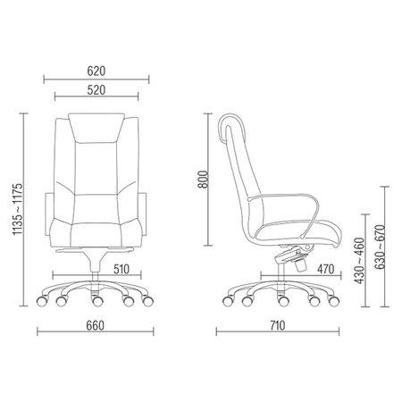 Kit 02 Cadeiras de Escritório Presidente Executiva New Onix Couro Ecológico - Lyam Decor