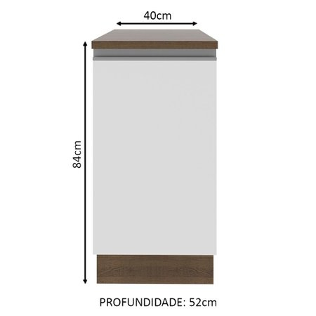 Balcão Madesa Glamy 40 cm 1 Porta