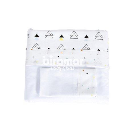 Lençol para Berço 3 peças Lolli Vira New York Mini Triângulo Colorido