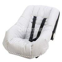 Capa para Bebê Conforto Ajustável Listrado Cinza