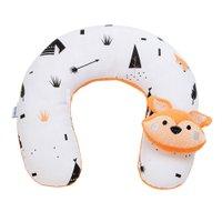 Protetor de Pescoço para Bebê Estampa e Bordado Fox Preto