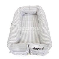 Bercinho Portátil Ninho para Bebê Sleep UM Listrado Cinza