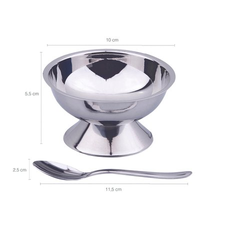 Conjunto Potes Para Sorvete Sobremesa Inox 12 Peças Jornata