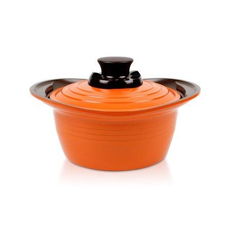 Caçarola Roichen Premium Cerâmica com Tampa Cerâmica - 18cm - 1,8L - Laranja