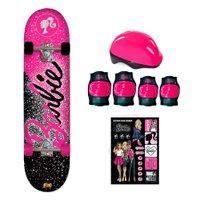 Barbie Skate com Acessórios de Segurança e Adesivos Glitter - Fun Divirta-Se