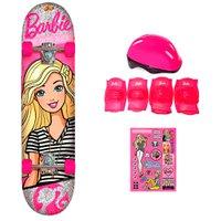 Barbie Skate com Acessórios de Segurança e Adesivos My Best Friend- Fun Divirta-Se