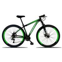 Bicicleta Aro 29 Quadro 17 Freio a Disco Mecânico 21 Marchas Alumínio Preto Verde - Dropp