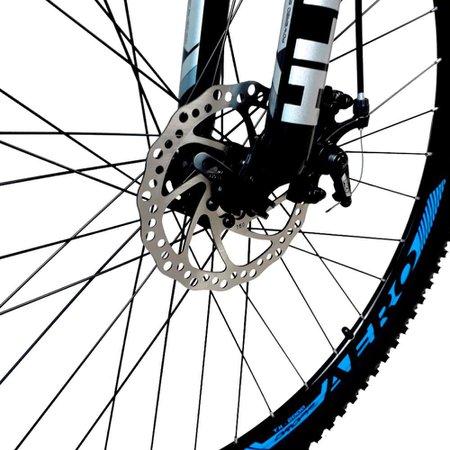 Bicicleta Aro 29 Quadro 19 Freio a Disco Mecânico 21 Marchas Alumínio Preto Azul - Dropp