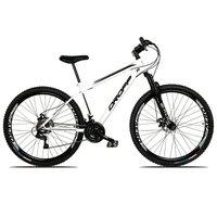 Bicicleta Aro 29 Quadro 19 Freio a Disco Mecânico 21 Marchas Suspensão Aço Branco Preto - Dropp
