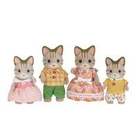 Sylvanian Families  Família dos Gatos Listrados -Epoch Magia