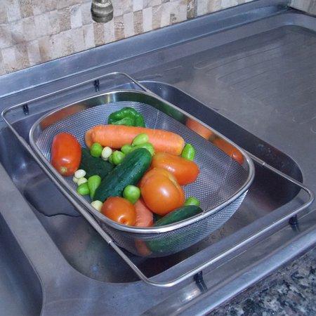 Cesto Para Lavar Frutas Verduras Inox Higienização Alimentos