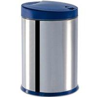 Lixeira Inox 4 L Lixeira para cozinha Brinox Balde Removível Azul