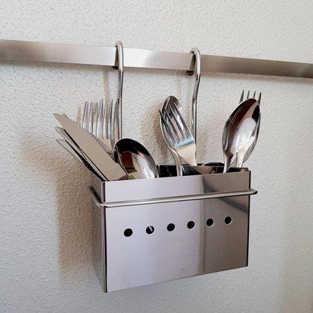Porta Talheres Para Barra Para Utensílios De Cozinha Brinox
