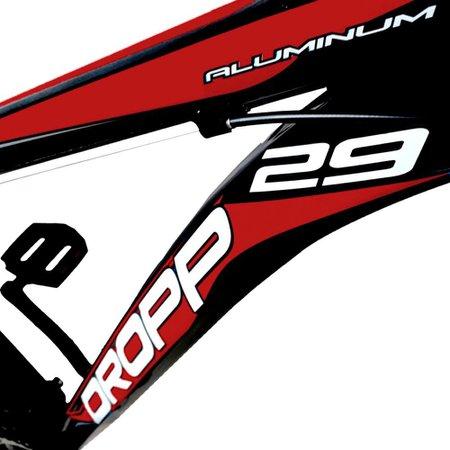 Bicicleta Aro 29 Quadro 21 Freio Disco Mecânico 21 Marchas Alumínio Preto Vermelho - Dropp