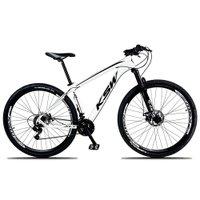 Bicicleta XLT Aro 29 Quadro 15 Suspensão 21 Marchas Freio a Disco Alumínio Branco Preto - KSW