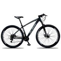 Bicicleta XLT Aro 29 Quadro 15 Suspensão 21 Marchas Freio a Disco Alumínio Preto Cinza - KSW