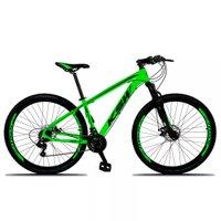 Bicicleta XLT Aro 29 Quadro 15 Suspensão 21 Marchas Freio a Disco Alumínio Verde Preto - KSW