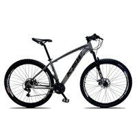 Bicicleta XLT Aro 29 Quadro 17 Suspensão 21 Marchas Freio a Disco Alumínio Cinza Preto - KSW