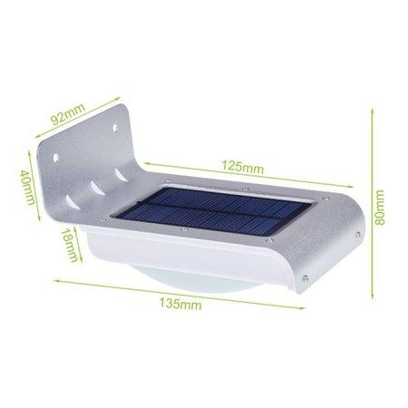 Luminária Solar de Parede Led Sensor de Presença Helius