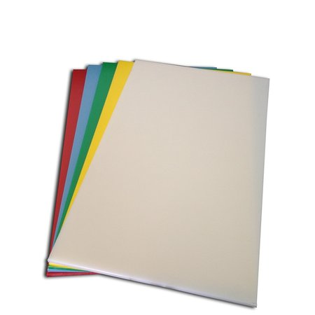 Conjunto de 6 (seis) Tabuas Lisas Polietileno - Coloridas - Medias