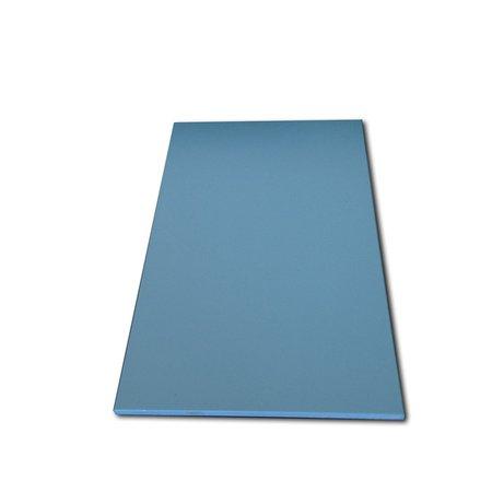 Tabua de Corte Lisa em Polietileno - Azul - 33 x 25