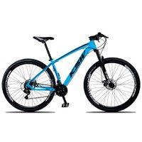 Bicicleta XLT Aro 29 Quadro 19 Suspensão 21 Marchas Freio a Disco Alumínio Azul Preto - KSW