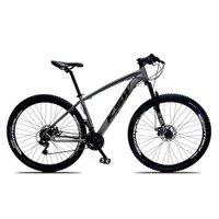 Bicicleta XLT Aro 29 Quadro 19 Suspensão 21 Marchas Freio a Disco Alumínio Cinza Preto - KSW