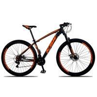 Bicicleta XLT Aro 29 Quadro 21 Suspensão 21 Marchas Freio a Disco Alumínio Preto Laranja - KSW