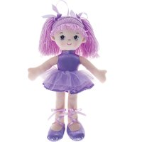 Boneca Bailarina Gliter Lilas - Buba