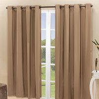 Cortina Sala Quarto 2x1,60m Blackout Blecaute Lisa Castor