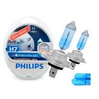 Lâmpada Super Branca H7 Crystal Vision Ultra Philips 4300k + Pingo