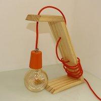 Luminária de Mesa em Madeira Make Hunter Trade com 1 Lâmpada Filamento E-27 - HT-MAKE