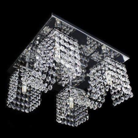 Lustre Cristal Legitimo Plafon Quadrado 30x30x15cm - JP/TOYOTA-M2/30