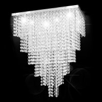 Lustre Cristal Original Empire States Quadrado 45x45x55cm - JP/EMPIRE/45