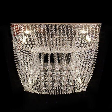 Lustre Cristal Plafon Quadrado 60x60x20cm - JP/KYOTO/60