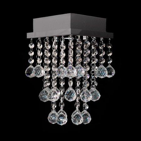 Lustre de Cristal Legítimo Mura 17x17x23cm para 1 Lâmpada GU10 - MURA-17