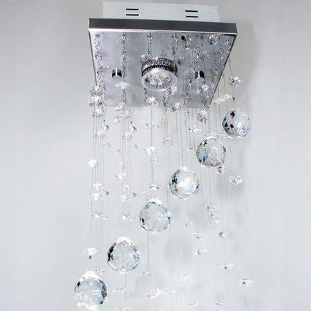 Lustre De Cristal Caracol Quadrado 17x17x130cm - JP HOKKAIDO 17B