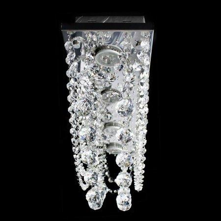 Lustre De Cristal Original Esfera Plafon Retangular 60x15x22cm - JP SAPPORO 60