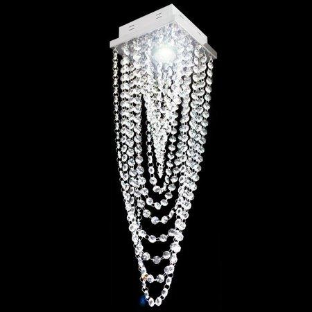 Plafon Cristal Véu De Noiva Soquete 1*E27 17x17x60cm - JP/TOYAMA/17