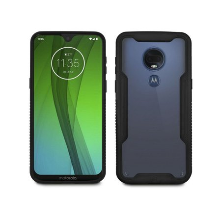Kit Capa Dual Shock + Película Nano Vidro para Motorola Moto G7 - Gorila Shield