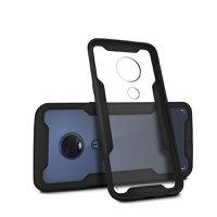 Kit Capa Dual Shock + Película Vidro Dupla para Motorola Moto G7 - Gorila Shield