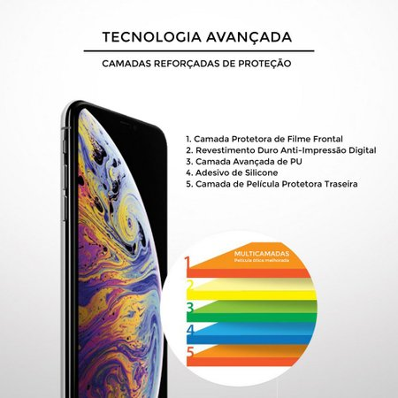 Película para Vidro Dupla Motorola Moto G7 Plus - Gorila Shield
