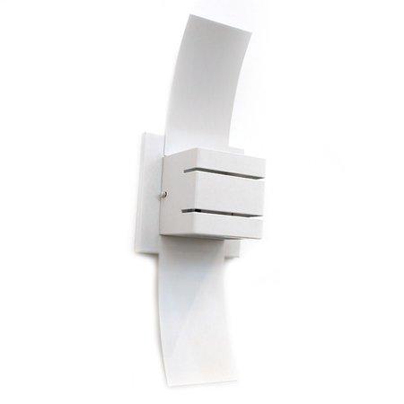 Arandela Retangular Ciclone Branca Hunter Trade para 1 Lâmpada G9 - HT-CICLONE