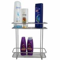 Suporte Duplo Porta Shampoo Prateleira Multiuso Box Bancada