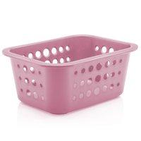 Caixa Organizadora Organize Bancada Cesto De Plástico 1,5l Rosa Quartzo