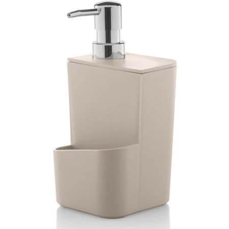 Dispenser Para Detergente Esponja 650ml Sabão Líquido Bege