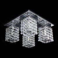 Lustre Cristal Legitimo Plafon Quadrado 30 x 30 x 15 cm - JP/TOYOTA/30