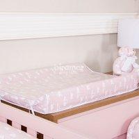 Trocador Anatômico para Bebê Estampado Cisne Rosa