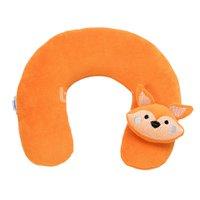 Protetor de Pescoço para Bebê Plush Bordado Sweet Fox Laranja