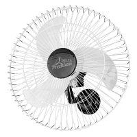 Ventilador de Parede Venti-Delta Premium 60cm Preto / Cromado Bivolt